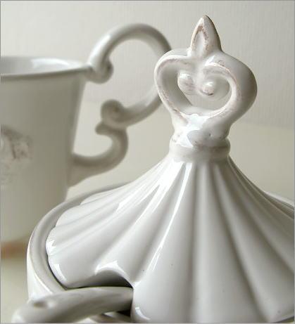 陶器のシュガー&クリーマー(3)