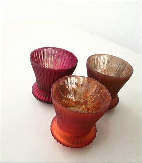 ガラスのキャンドルカップ 3カラー(2)