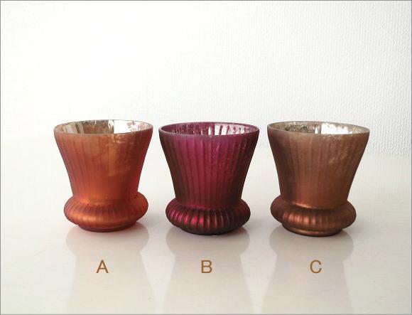 ガラスのキャンドルカップ 3カラー(4)