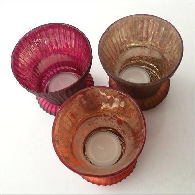 ガラスのキャンドルカップ 3カラー(5)