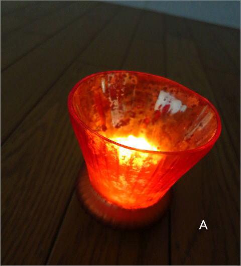 ガラスのキャンドルカップ 3カラー(6)