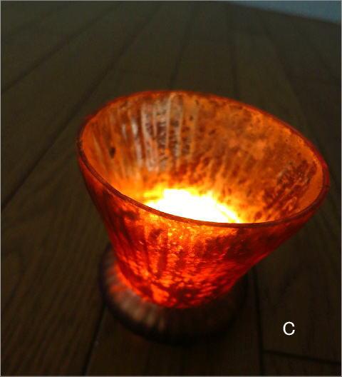 ガラスのキャンドルカップ 3カラー(8)