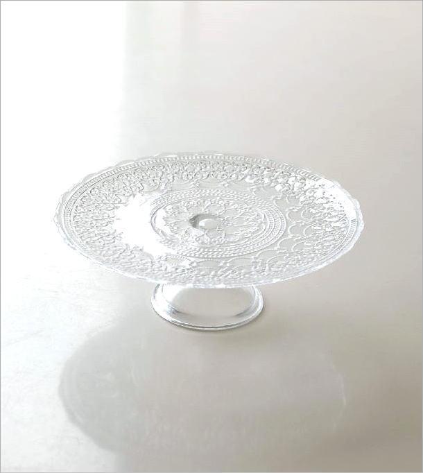 ガラスのケーキスタンド アラベスク(4)