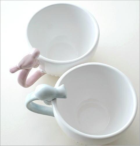 ホワイトカップ&ソーサー キャット&バード(2)