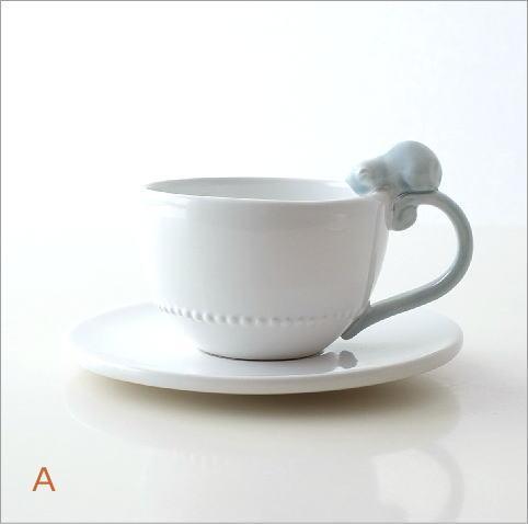 ホワイトカップ&ソーサー キャット&バード(3)
