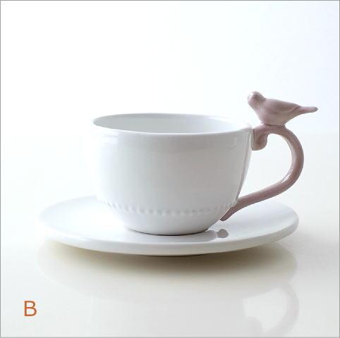ホワイトカップ&ソーサー キャット&バード(4)