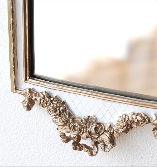 ベルサイユ壁掛ホワイトミラー(3)