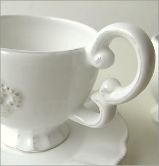 アンティークなペアカップ ホワイトクラウン(3)