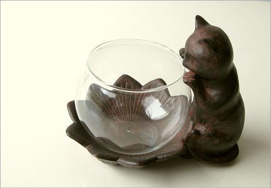 小物入れ ガラス 子ネコのミニベース(4)