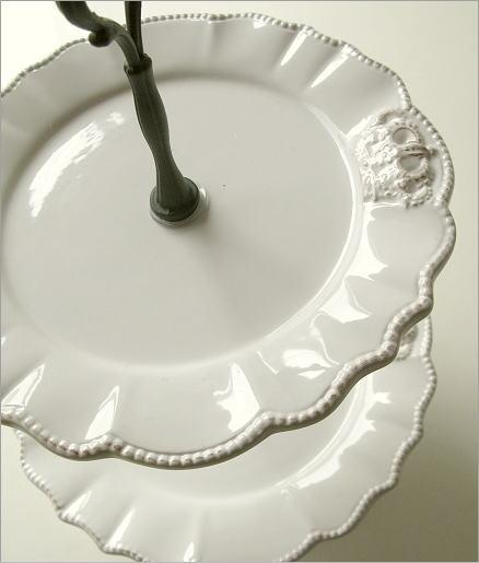 陶器の2段デザートプレート(2)