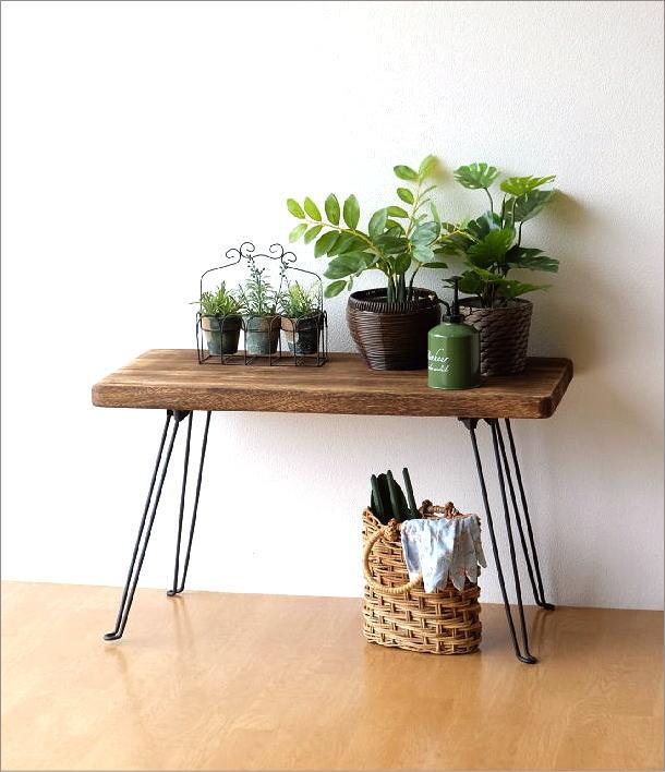ウッド折り畳みテーブル レクタングル(2)