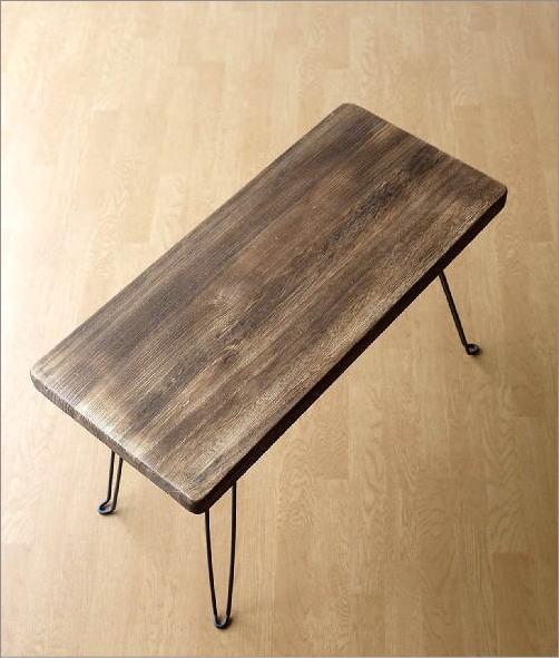 ウッド折り畳みテーブル レクタングル(3)
