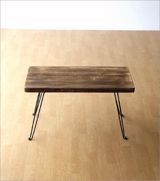 ウッド折り畳みテーブル レクタングル(7)