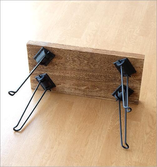 ウッド折り畳みテーブル スクエア(4)