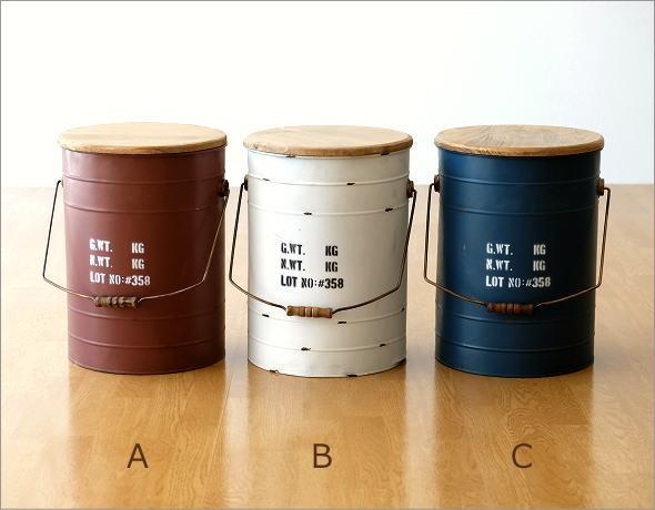 スチールBOXスツール 3カラー(5)