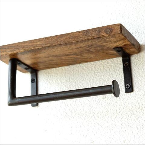 ウッド棚付きペーパー・ホルダー(2)