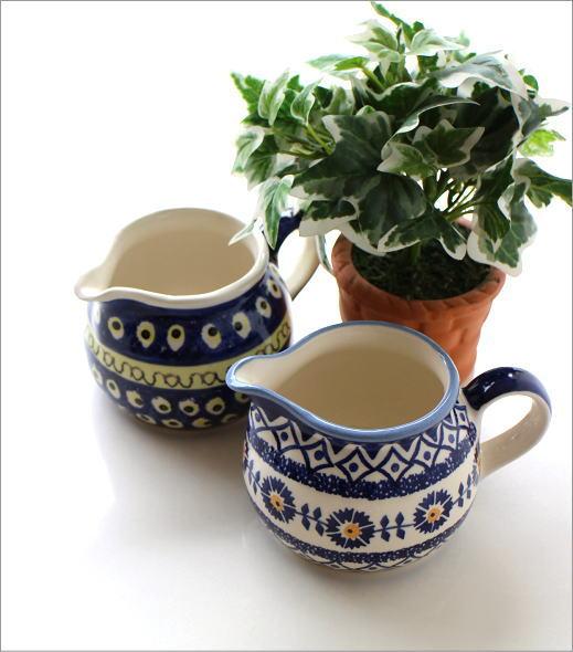 ポーランド陶器のミルクピッチャー2タイプ(1)
