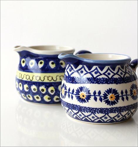 ポーランド陶器のミルクピッチャー2タイプ(2)