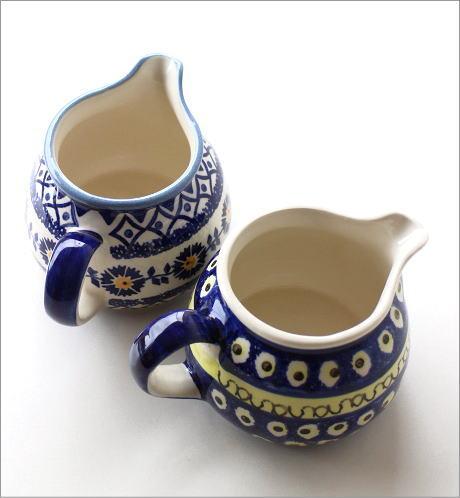 ポーランド陶器のミルクピッチャー2タイプ(3)