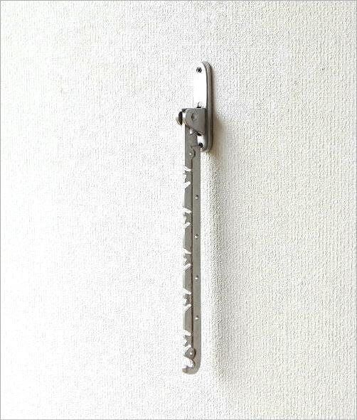 アルミの折り畳み壁掛けハンガー(4)