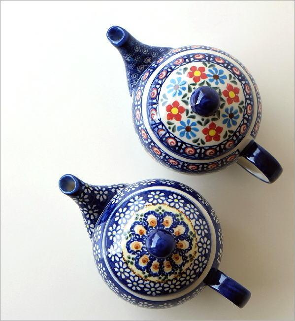 ポーランド陶器のティーポット 2タイプ(1)