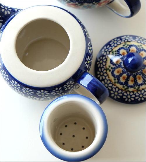 ポーランド陶器のティーポット 2タイプ(2)