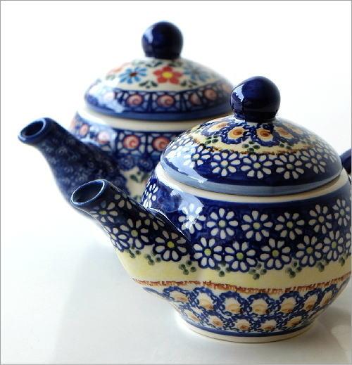 ポーランド陶器のティーポット 2タイプ(4)
