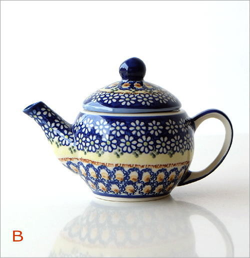 ポーランド陶器のティーポット 2タイプ(6)
