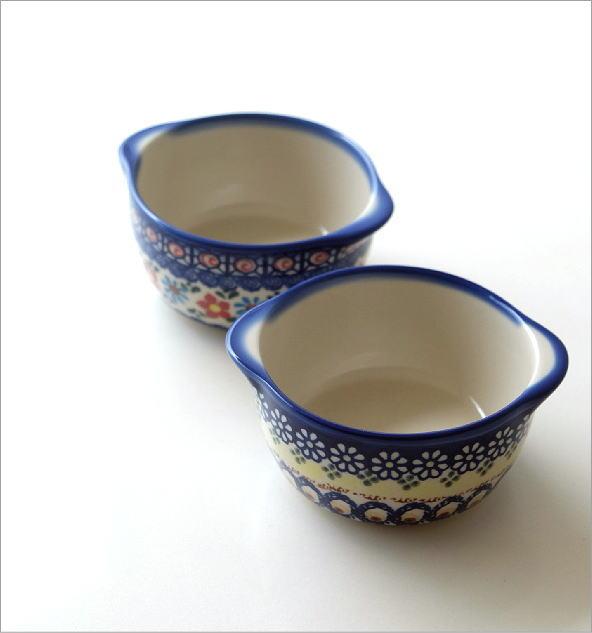 ポーランド陶器の耳付きボウル 2タイプ(1)