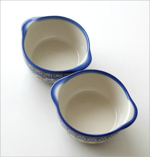 ポーランド陶器の耳付きボウル 2タイプ(3)