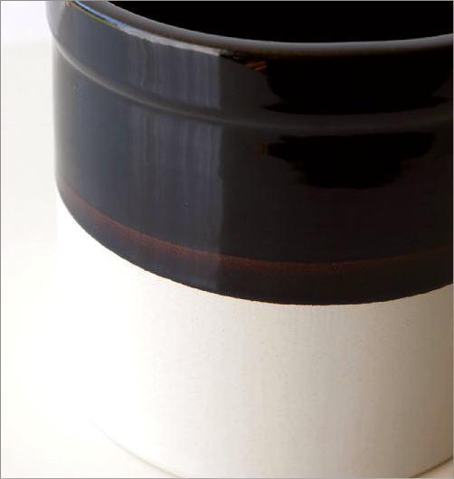 陶器のバイカラー鉢ポット(2)