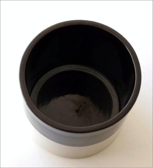陶器のバイカラー鉢ポット(3)