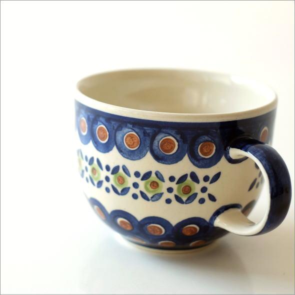 ポーランド陶器のスープカップ D(1)