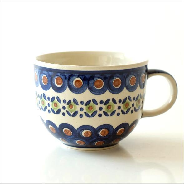 ポーランド陶器のスープカップ D(4)
