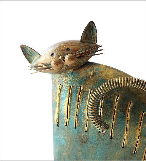ブリキのオブジェ ネコ(1)