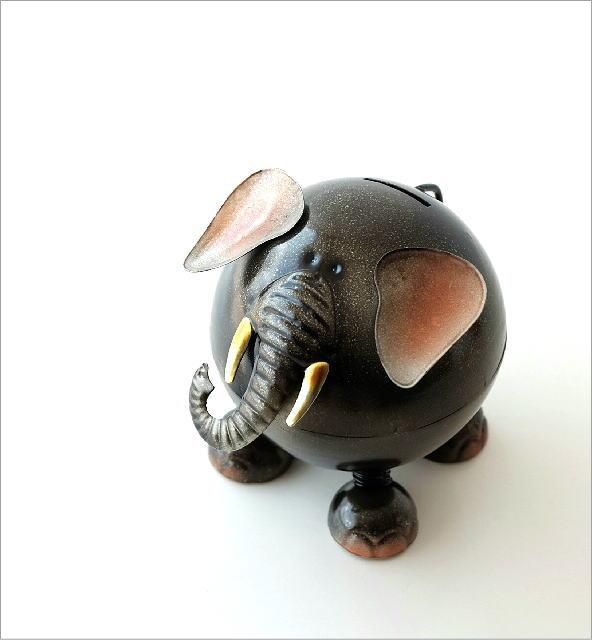 ブリキのオブジェ ゾウ貯金箱(1)