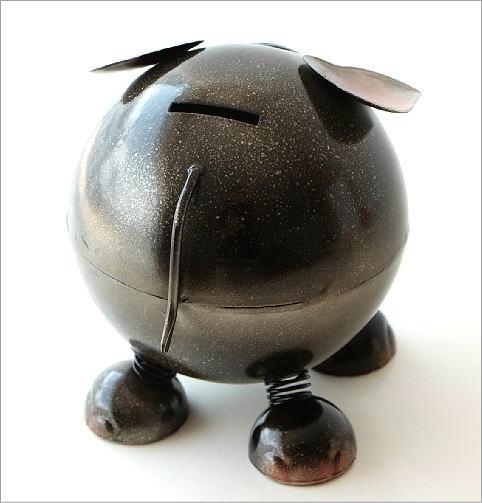 ブリキのオブジェ ゾウ貯金箱(2)
