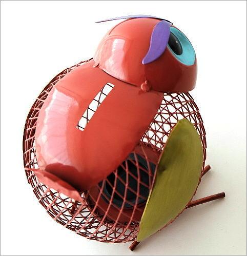 ブリキのオブジェ バード貯金箱(2)