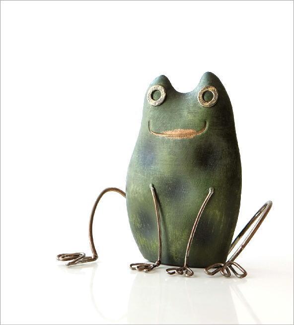 ブリキのオブジェ カエルA(1)