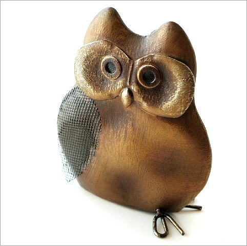 ブリキのオブジェ フクロウ(2)