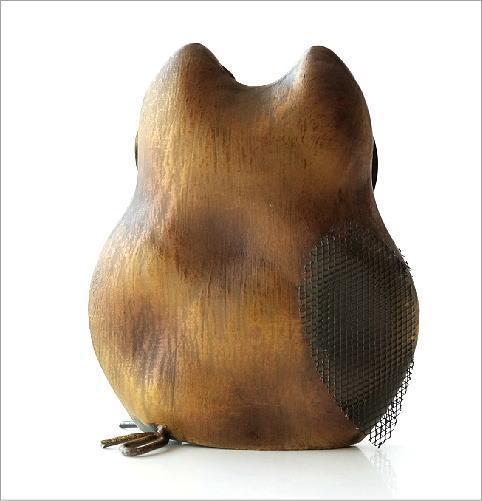 ブリキのオブジェ フクロウ(3)