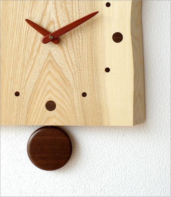 木の振り子時計 バーク(1)
