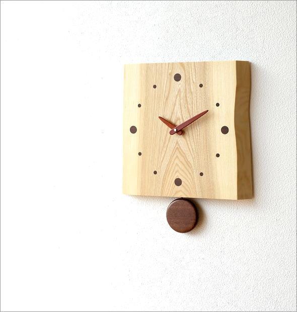 木の振り子時計 バーク(2)