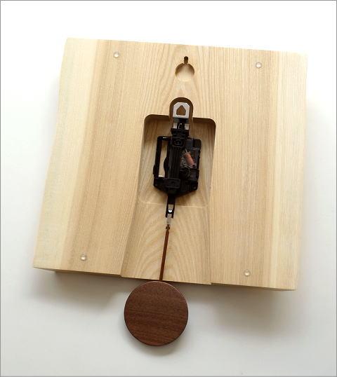 木の振り子時計 バーク(4)