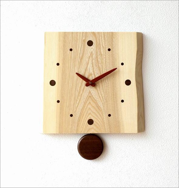 木の振り子時計 バーク(5)