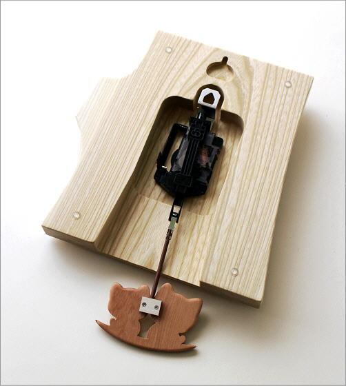 木の振り子時計 ねこ(4)