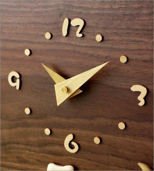 木の振り子時計 スクエアウォルナット(2)