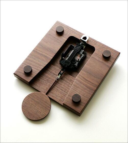 木の振り子時計 スクエアウォルナット(4)
