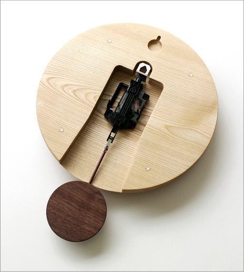 木の振り子時計 サークルNA(3)