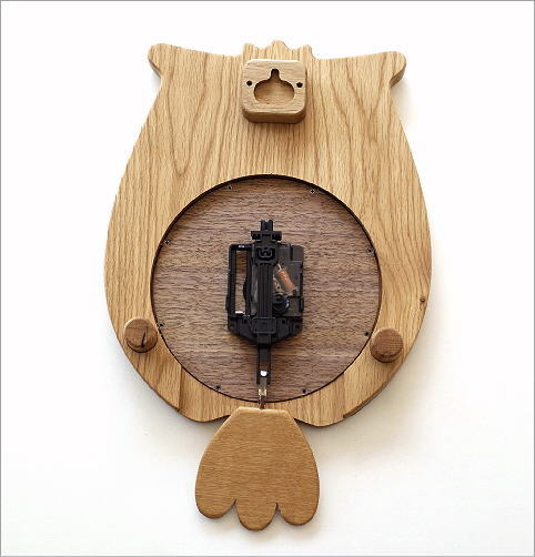 ウッドふくろう掛け時計(3)